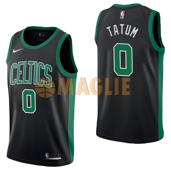 Acquista Sconto Maglia NBA Nike Boston Celtics NO.0 Jayson Tatum Nero Statement