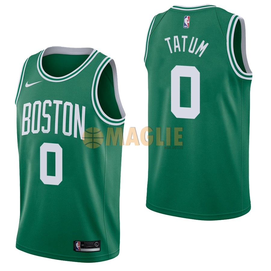 Acquista Sconto Maglia NBA Nike Boston Celtics NO.0 Jayson Tatum Verde Icon