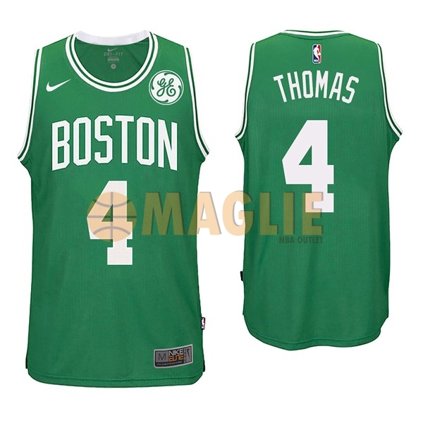 Acquista Sconto Maglia NBA Nike Boston Celtics NO.4 Isaiah Thomas Verde