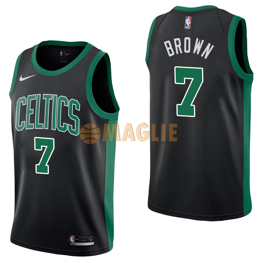 Acquista Sconto Maglia NBA Nike Boston Celtics NO.7 Jaylen Brown Nero Statement