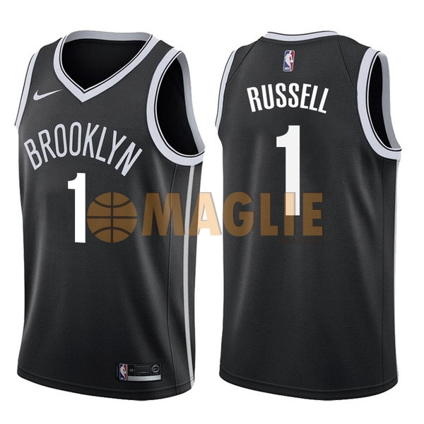 Acquista Sconto Maglia NBA Nike Brooklyn Nets NO.1 D'Angelo Russell Nero Icon