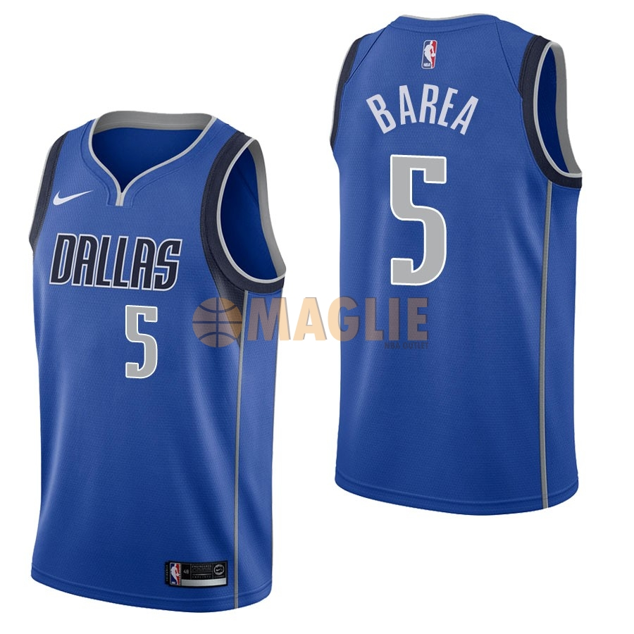 Acquista Sconto Maglia NBA Nike Dallas Mavericks NO.5 J.J. Barea Blu Icon