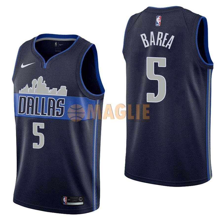 Acquista Sconto Maglia NBA Nike Dallas Mavericks NO.5 J.J. Barea Nero Statement