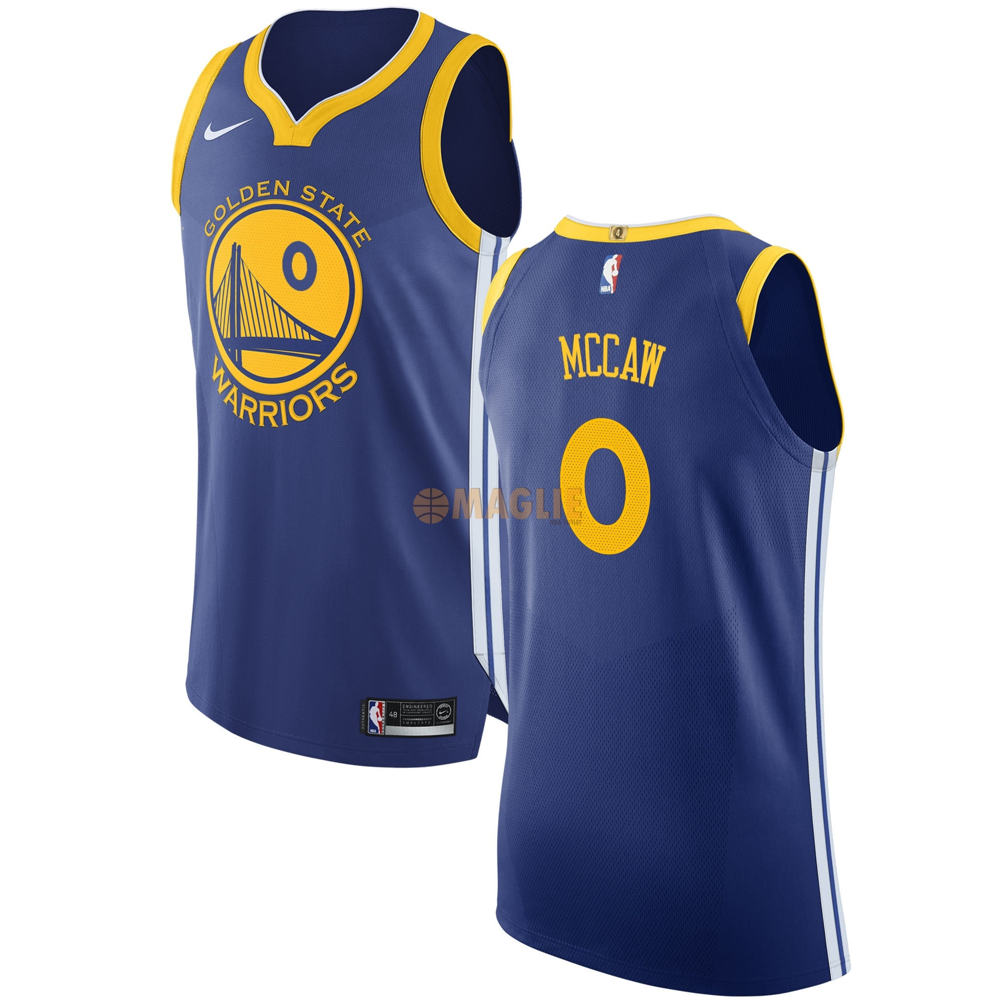 Acquista Sconto Maglia NBA Nike Golden State Warriors NO.0 Patrick McCaw Blu Icon