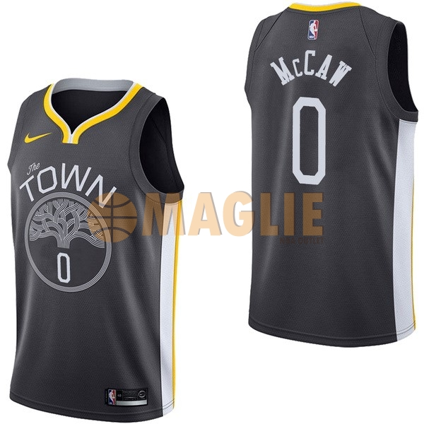 Acquista Sconto Maglia NBA Nike Golden State Warriors NO.0 Patrick McCaw Nero Statement