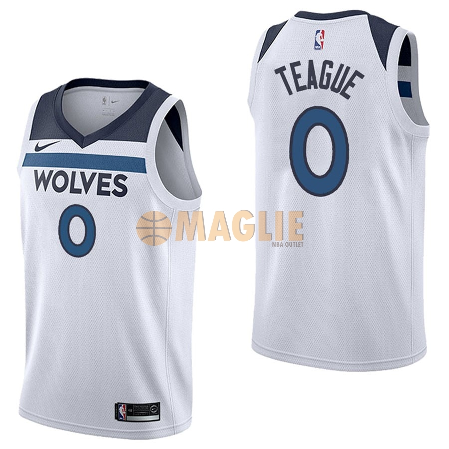 Acquista Sconto Maglia NBA Nike Minnesota Timberwolves NO.0 Jeff Teague Bianco Association