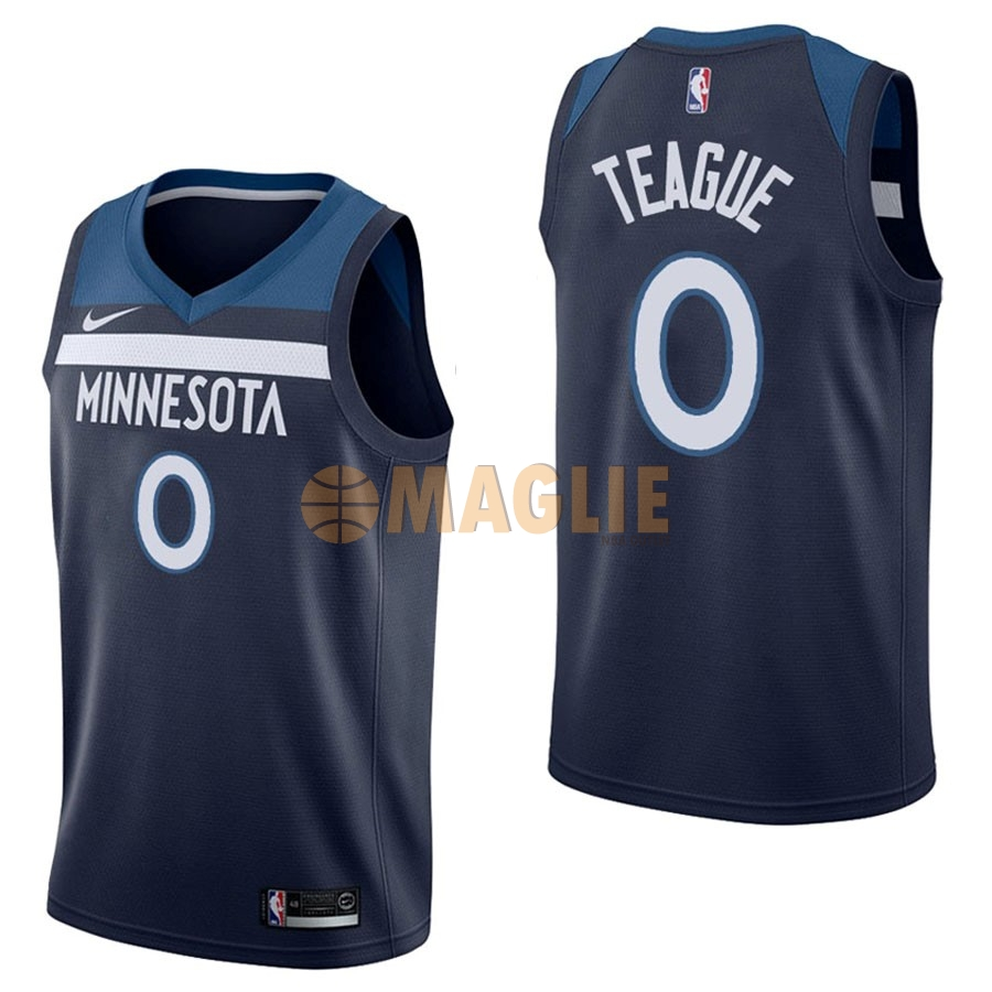 Acquista Sconto Maglia NBA Nike Minnesota Timberwolves NO.0 Jeff Teague Marino Icon