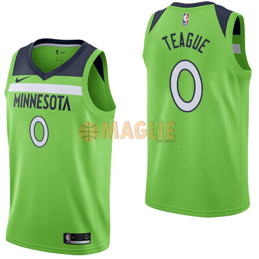 Acquista Sconto Maglia NBA Nike Minnesota Timberwolves NO.0 Jeff Teague Verde Statement