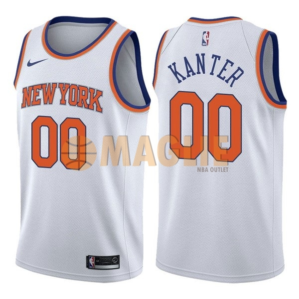Acquista Sconto Maglia NBA Nike New York Knicks NO.0 Enes Kanter Bianco Association