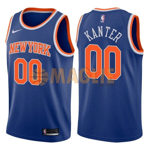 Acquista Sconto Maglia NBA Nike New York Knicks NO.0 Enes Kanter Blu Icon