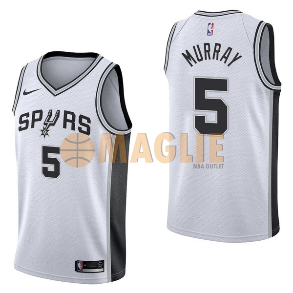 Acquista Sconto Maglia NBA Nike San Antonio Spurs NO.5 Dejounte Murray Bianco Association