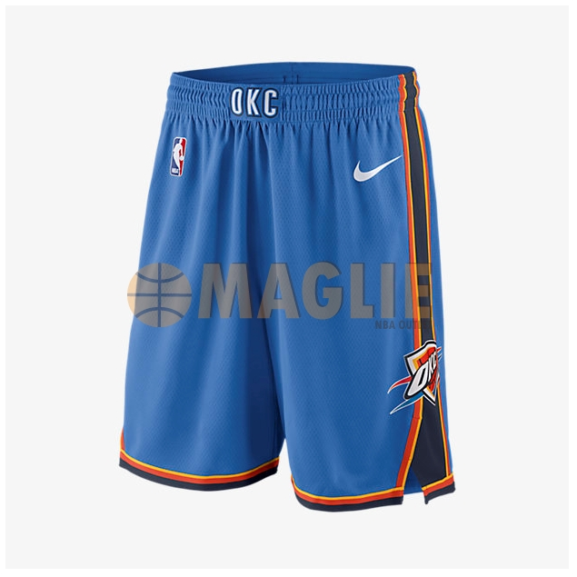 Acquista Sconto Pantaloni Basket Oklahoma City Thunder Nike Blu