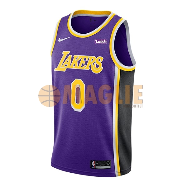 Acquista Sconto Maglia NBA Nike Los Angeles Lakers NO.0 Kyle Kuzma Porpora 2018-19