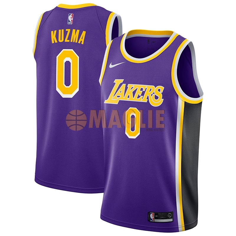 Acquista Sconto Maglia NBA Nike Los Angeles Lakers NO.0 Kyle Kuzma Porpora Statement 2018-19