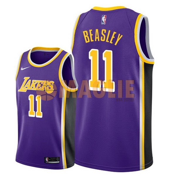 Acquista Sconto Maglia NBA Nike Los Angeles Lakers NO.11 Michael Beasley Porpora Statement 2018-19