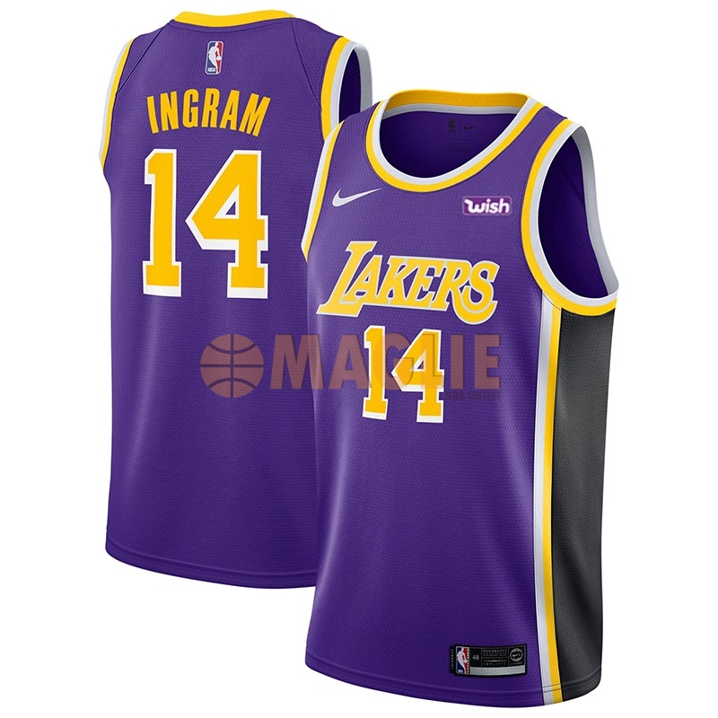 Acquista Sconto Maglia NBA Nike Los Angeles Lakers NO.14 Brandon Ingram Porpora 2018-19