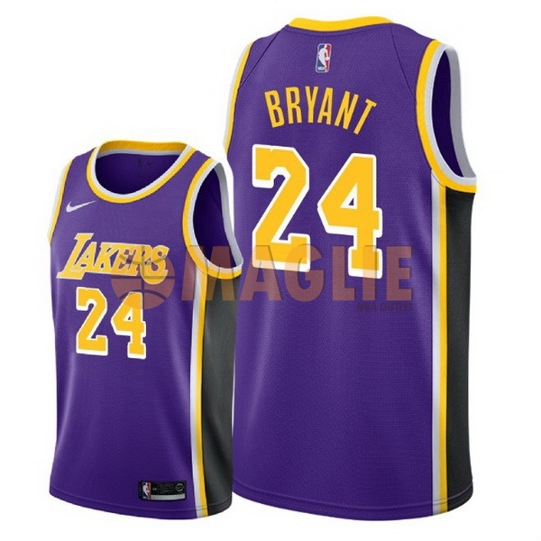 Acquista Sconto Maglia NBA Nike Los Angeles Lakers NO.24 Kobe Bryant Porpora Statement 2018-19