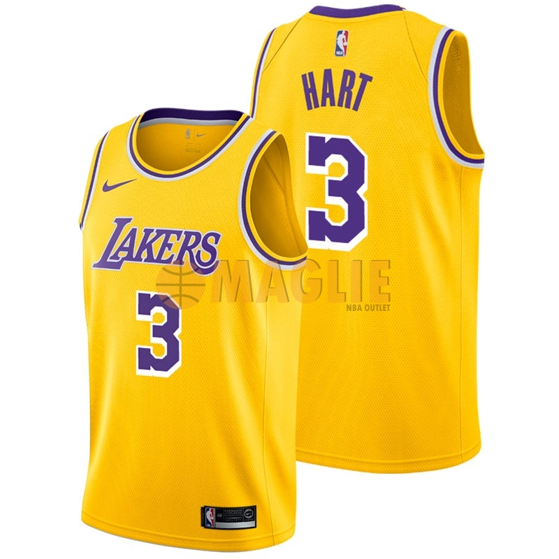 Acquista Sconto Maglia NBA Nike Los Angeles Lakers NO.3 Josh Hart Giallo Icon 2018-19