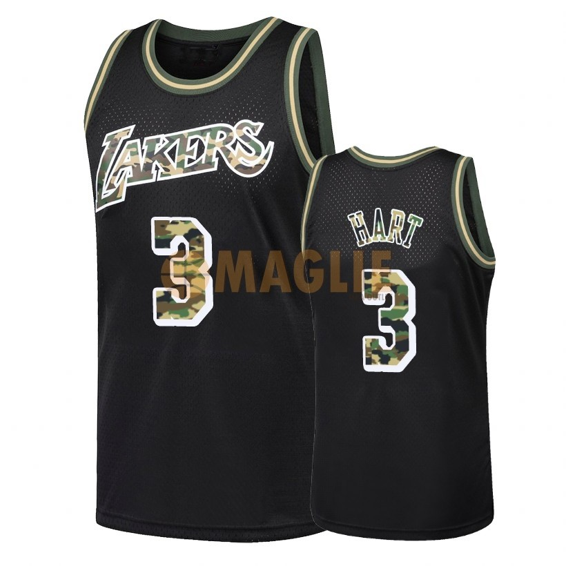 Acquista Sconto Maglia NBA Dritto Fire Camo Los Angeles Lakers NO.3 Josh Hart Nero 2018