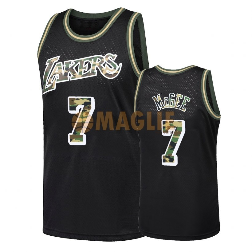 Acquista Sconto Maglia NBA Dritto Fire Camo Los Angeles Lakers NO.7 JaVale McGee Nero 2018