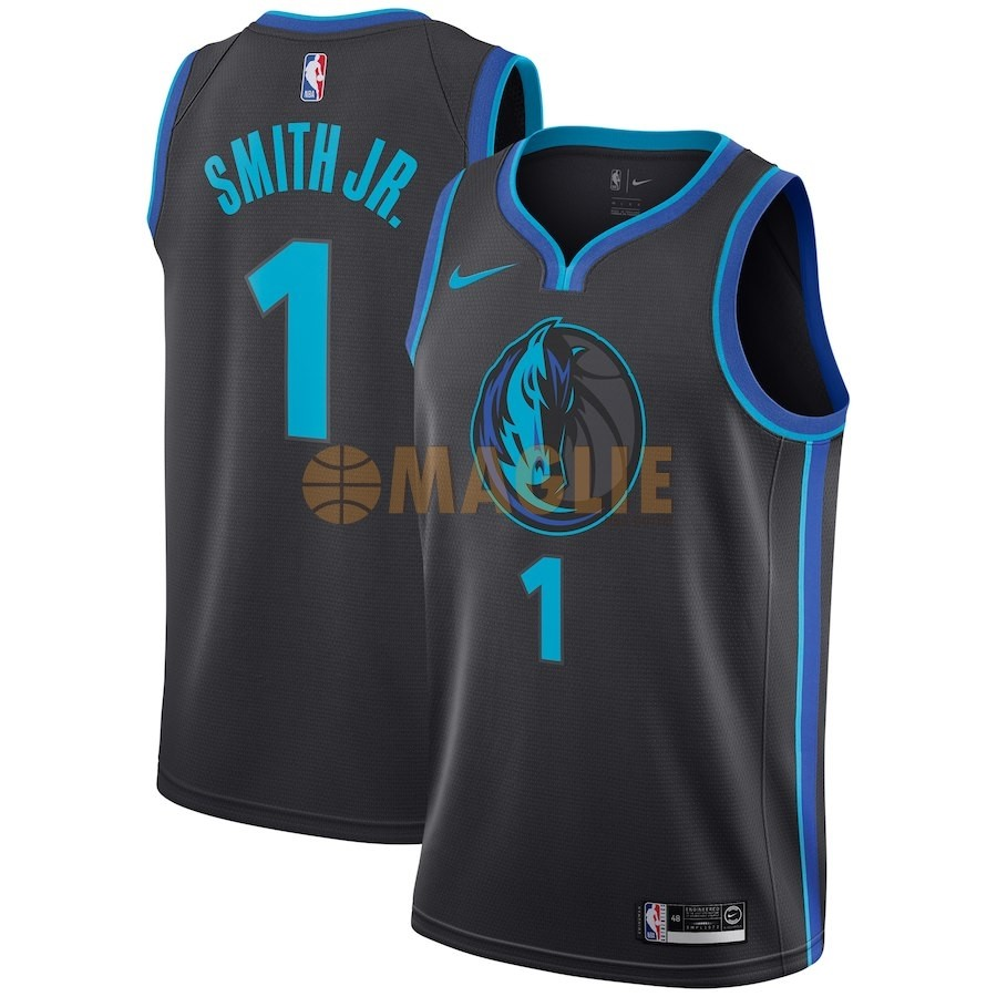 Acquista Sconto Maglia NBA Nike Dallas Mavericks NO.1 Dennis Smith Jr Nike Antracite Città 2018-19