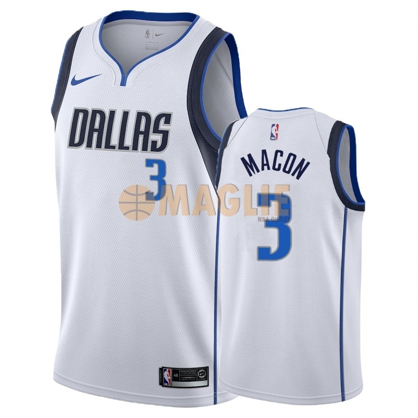 Acquista Sconto Maglia NBA Nike Dallas Mavericks NO.3 Daryl Macon Bianco Association 2018