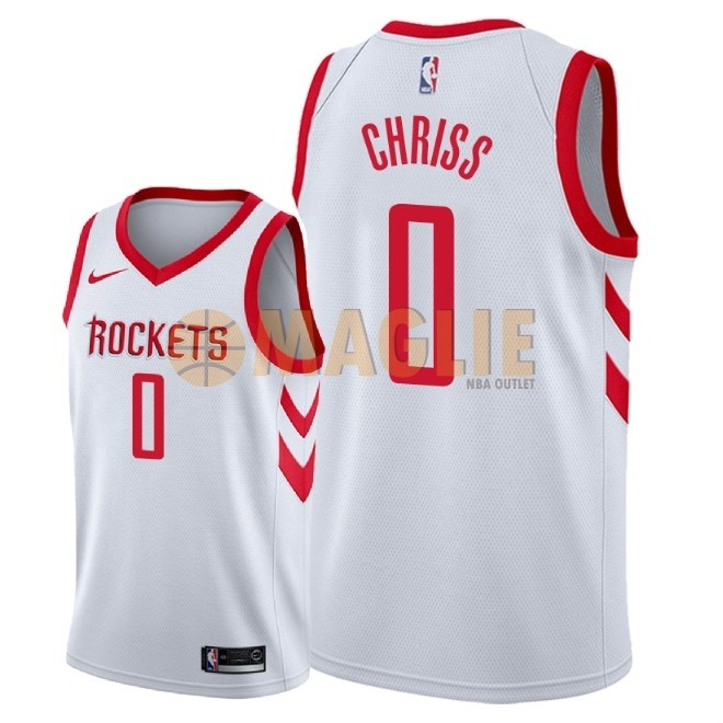Acquista Sconto Maglia NBA Nike Houston Rockets NO.0 Marquese Chriss Bianco Association 2018
