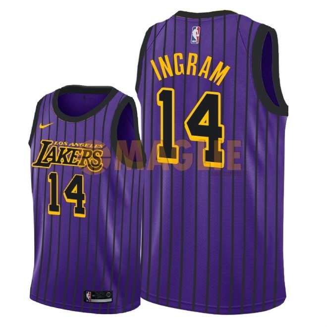 Acquista Sconto Maglia NBA Nike Los Angeles Lakers NO.14 Brandon Ingram Nike Porpora Città 2018-19