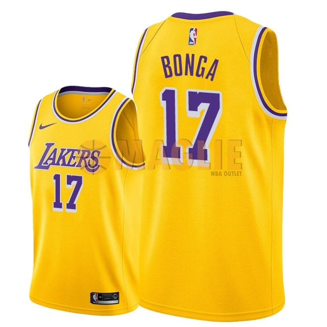 Acquista Sconto Maglia NBA Nike Los Angeles Lakers NO.17 Isaac Bonga Giallo Icon 2018-19