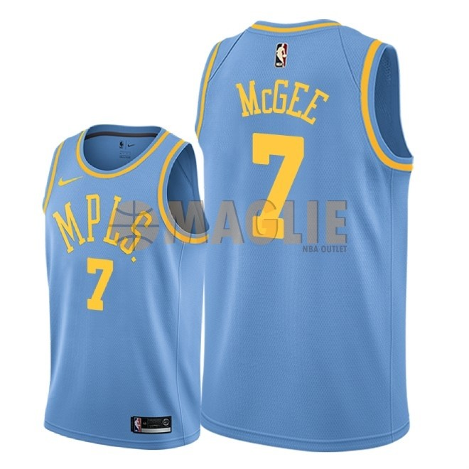 Acquista Sconto Maglia NBA Nike Los Angeles Lakers NO.7 JaVale McGee Retro Blu 2018