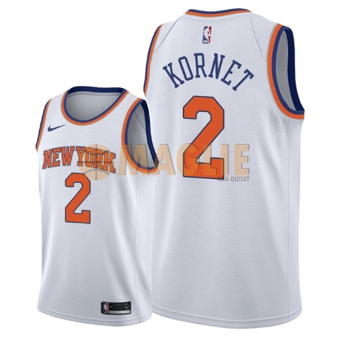 Acquista Sconto Maglia NBA Nike New York Knicks NO.2 Luke Kornet Bianco Association 2018
