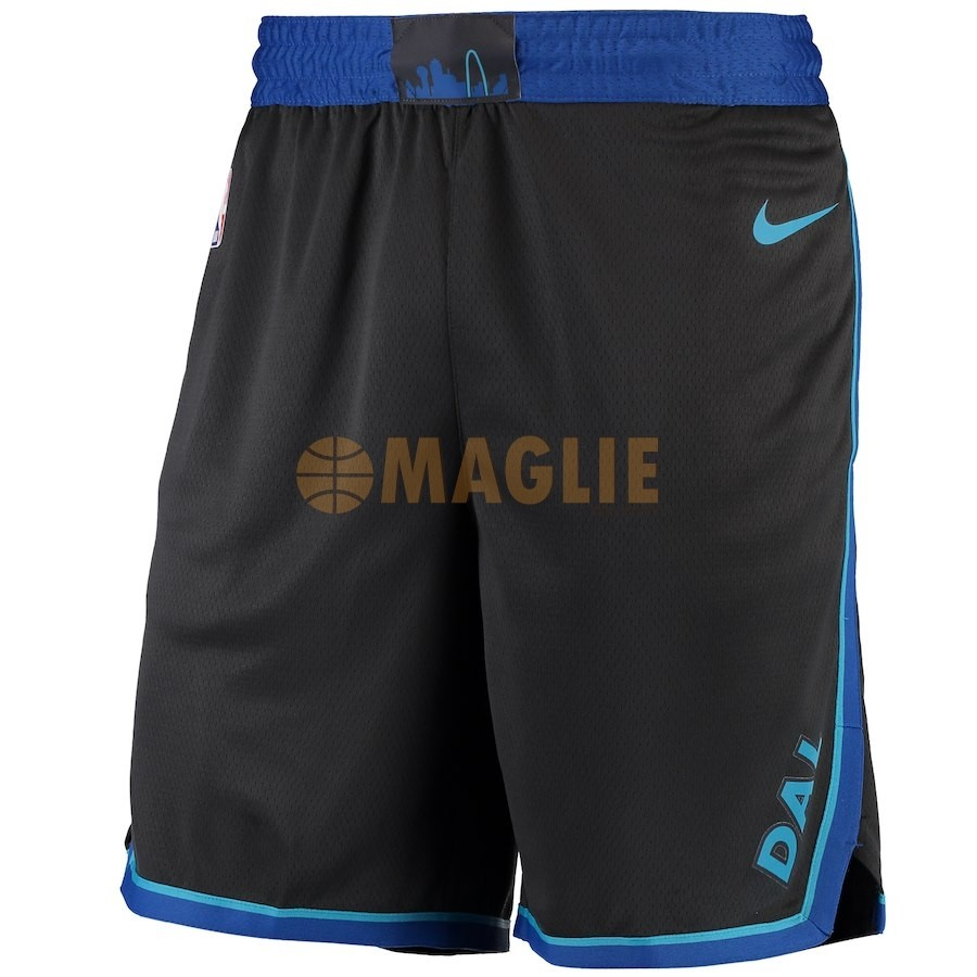 Acquista Sconto Pantaloni Basket Dallas Mavericks Nike Antracite Città 2018-19