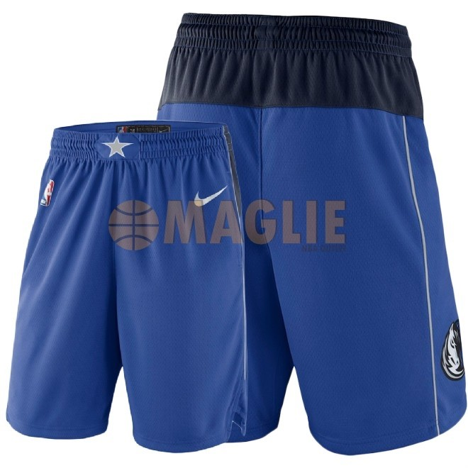 Acquista Sconto Pantaloni Basket Dallas Mavericks Nike Blu 2018
