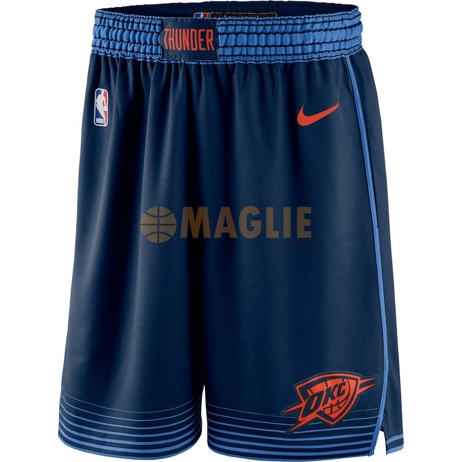 Acquista Sconto Pantaloni Basket Oklahoma City Thunder Nike Marino Statement 2018