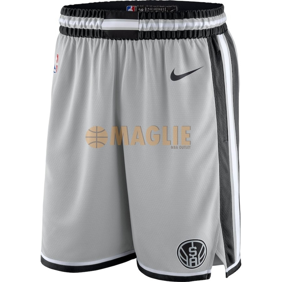 Acquista Sconto Pantaloni Basket San Antonio Spurs Nike Grigio Statement 2018