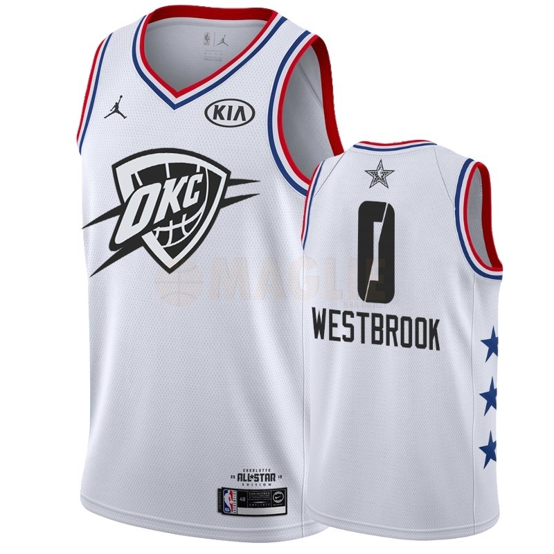 Acquista Sconto Maglia NBA 2019 All Star NO.0 Russell Westbrook Bianco