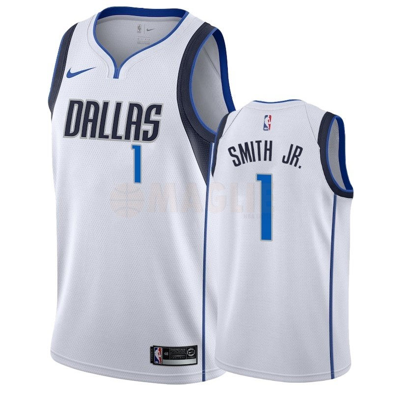 Acquista Sconto Maglia NBA Nike Dallas Mavericks NO.1 Dennis Smith Jr Bianco Association 2018-19