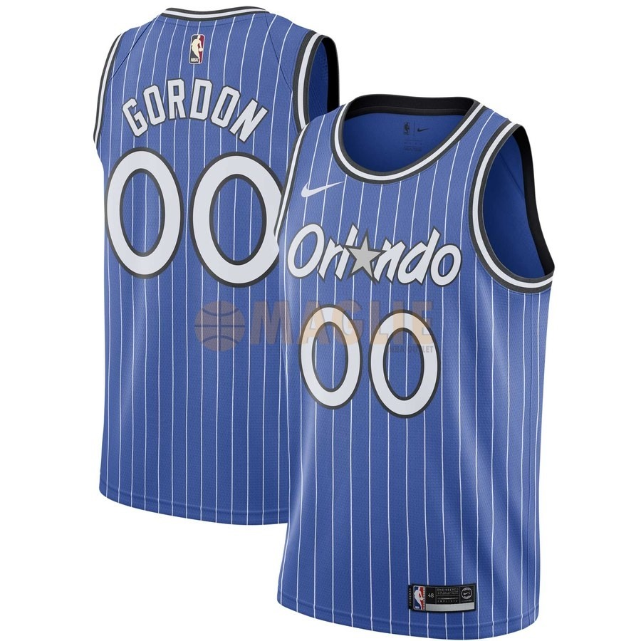 Acquista Sconto Maglia NBA Orlando Magic NO.0 Aaron Gordon Blu Hardwood Classics