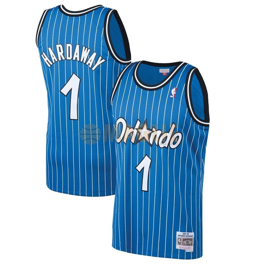 Acquista Sconto Maglia NBA Orlando Magic NO.1 Penny Hardaway Blu Hardwood Classics 1994-95