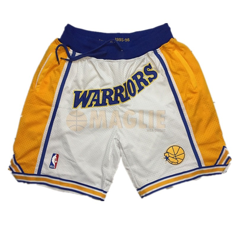 Acquista Sconto Pantaloni Basket Golden State Warriors Curry Bianco