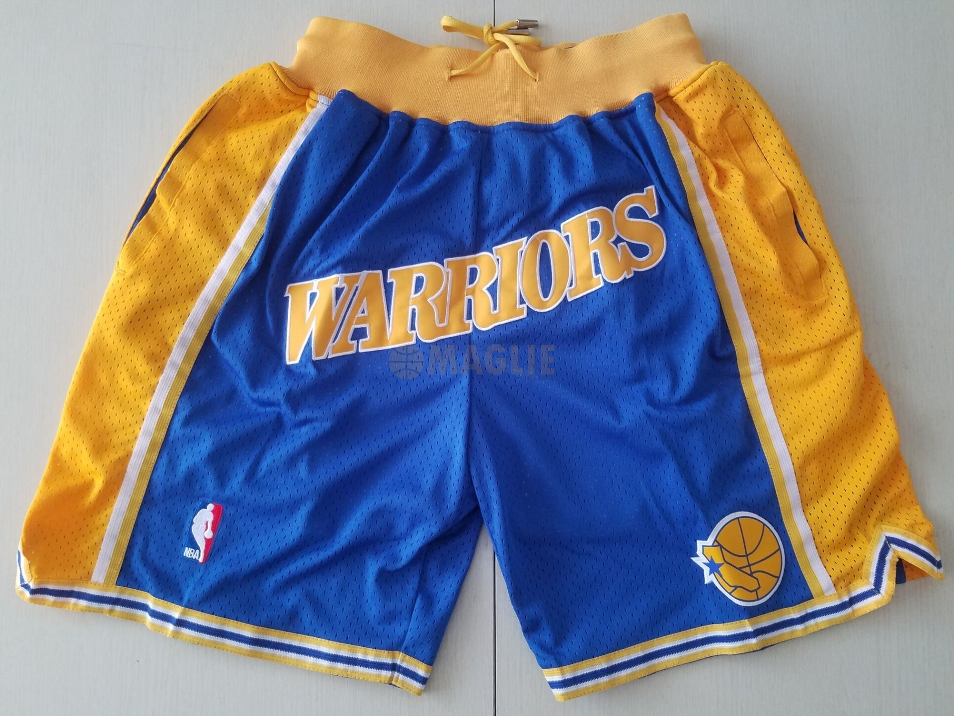 Acquista Sconto Pantaloni Basket Golden State Warriors Curry Blu