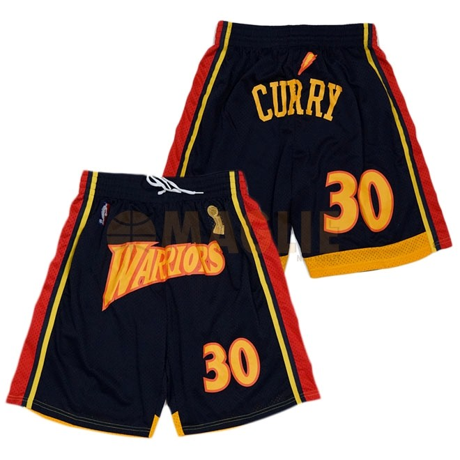 Acquista Sconto Pantaloni Basket Golden State Warriors Curry Nero