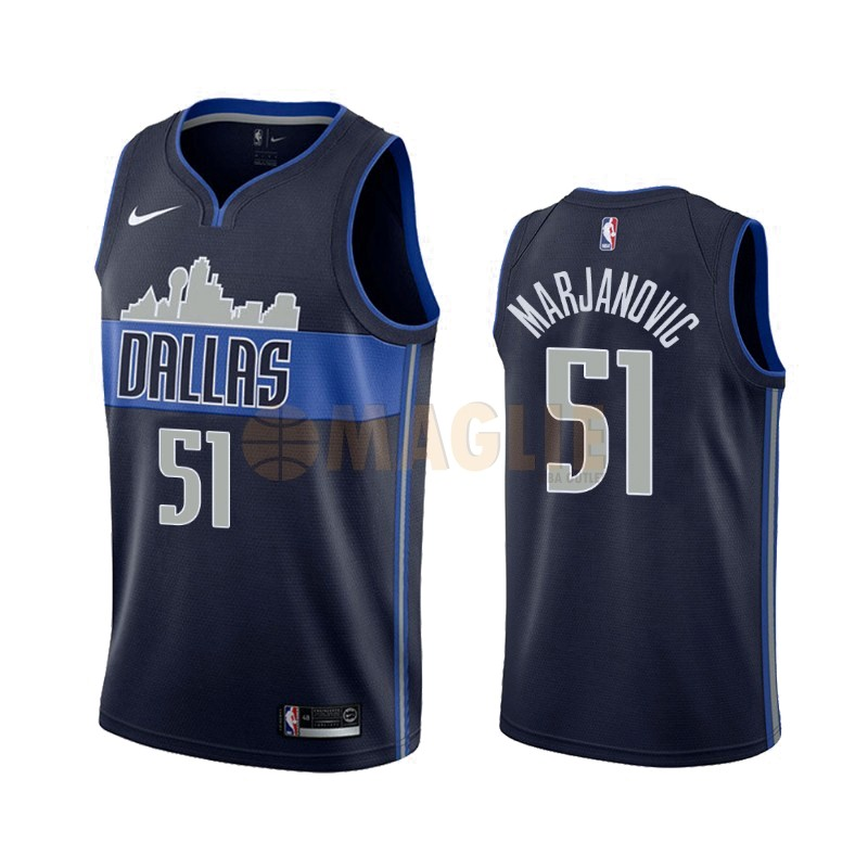 Acquista Sconto Maglia NBA Nike Dallas Mavericks NO.51 Boban Marjanovic Nero Statement 2019-20
