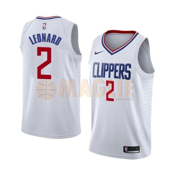 Acquista Sconto Maglia NBA Nike Los Angeles Clippers NO.2 Kawhi Leonard Bianco Association 2019-20