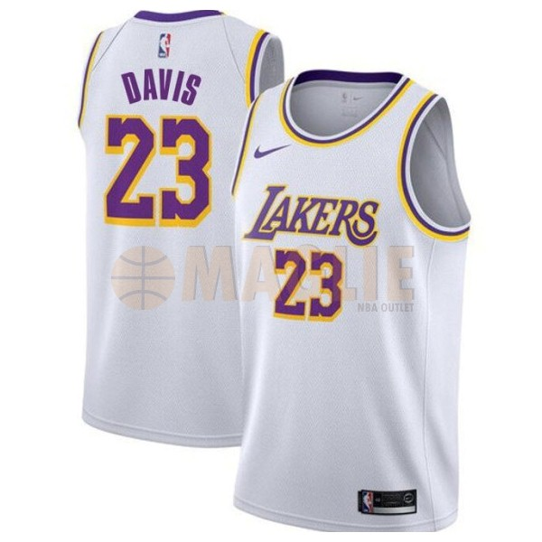 Acquista Sconto Maglia NBA Nike Los Angeles Lakers NO.23 Anthony Davis Bianco Association 2019-20