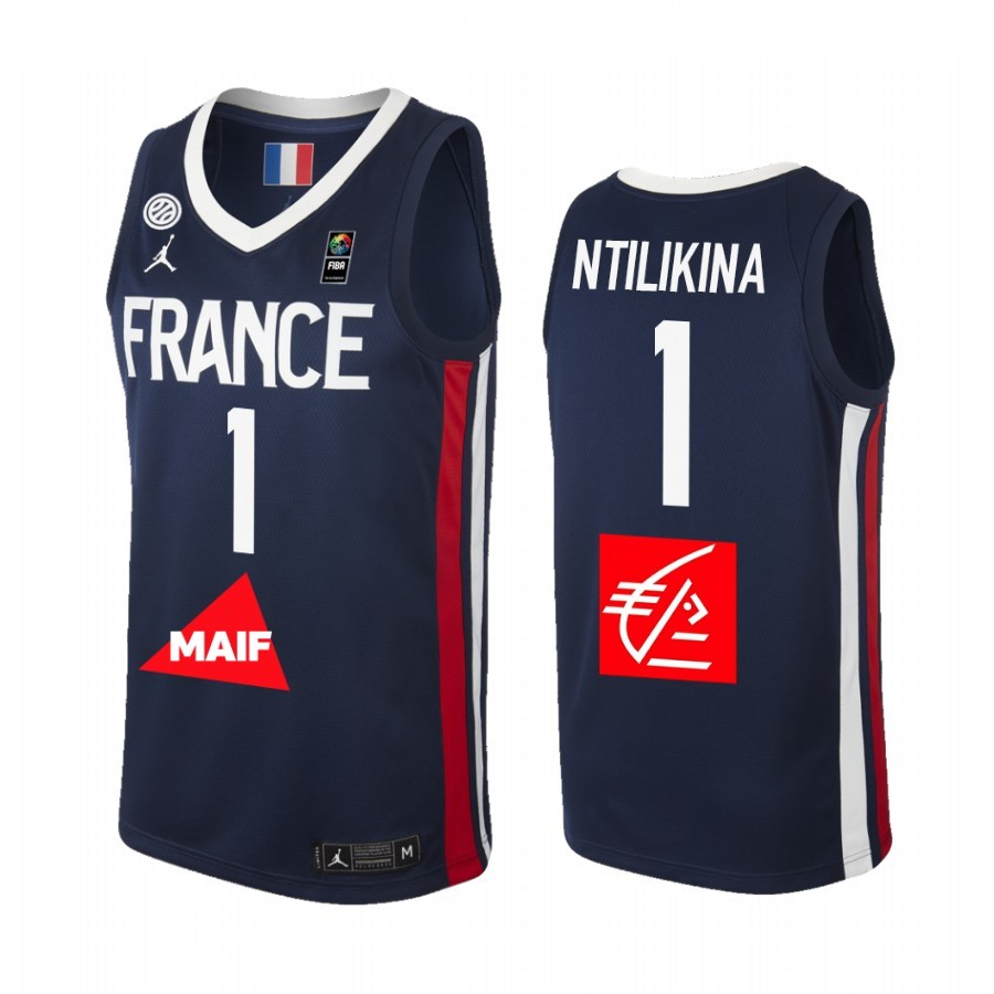 Acquista Sconto Coppa Mondo Basket FIBA 2019 France NO.1 Frank Ntilikina Marino