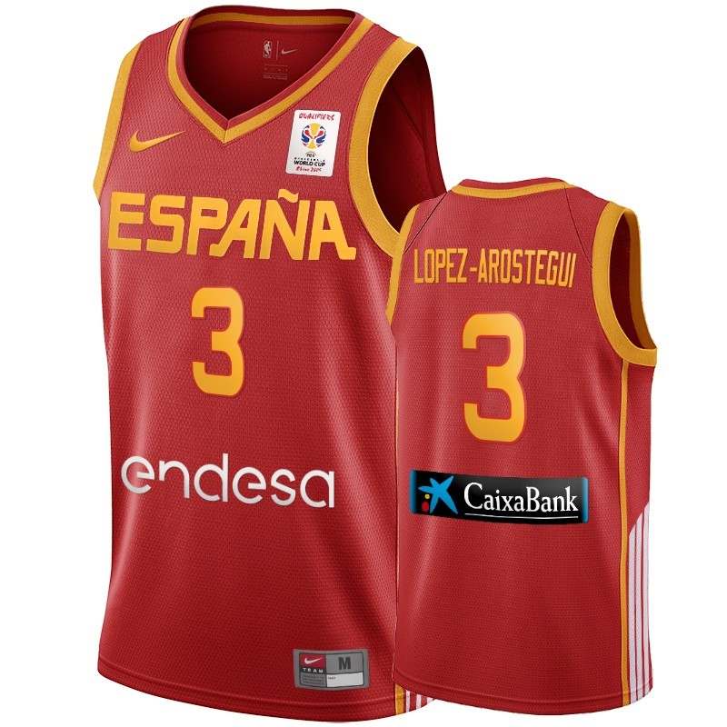 Acquista Sconto Coppa Mondo Basket FIBA 2019 Spain NO.3 Lopez Arostegui Vino Tinto