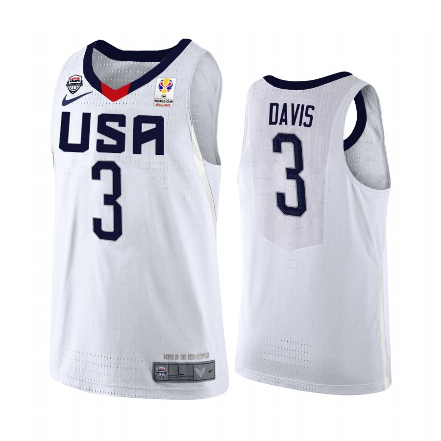 Acquista Sconto Coppa Mondo Basket FIBA 2019 USA NO.3 Anthony Davis Bianco