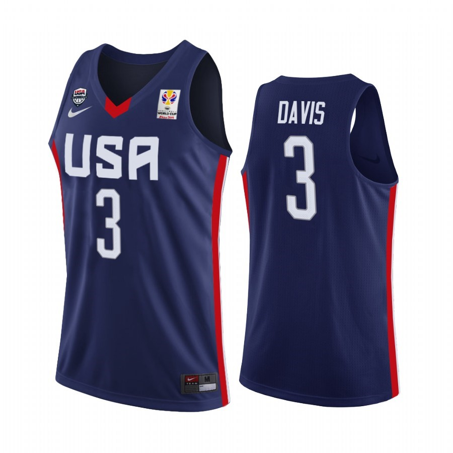 Acquista Sconto Coppa Mondo Basket FIBA 2019 USA NO.3 Anthony Davis Marino