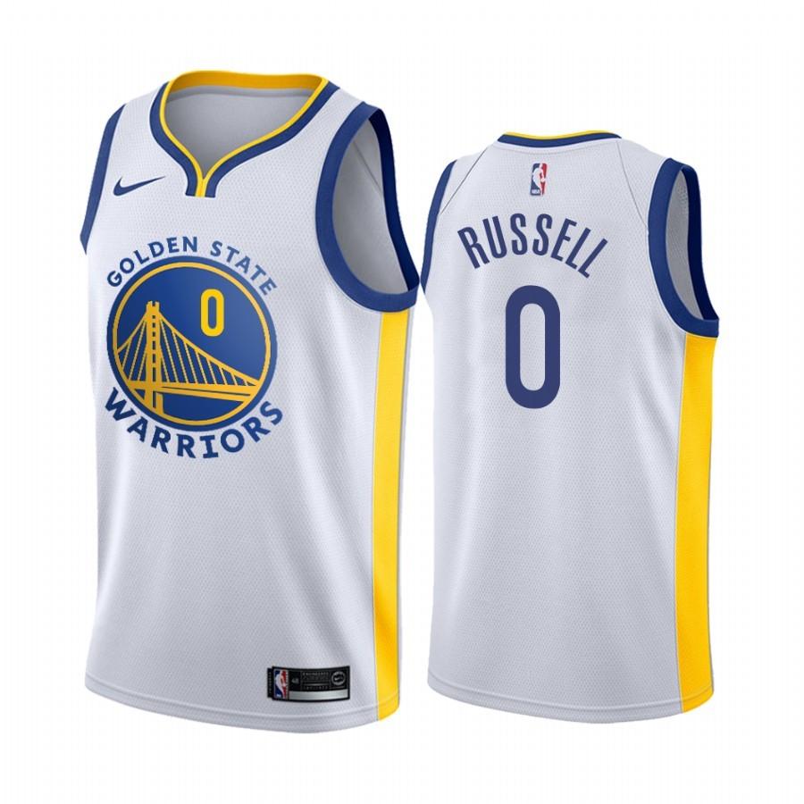 Acquista Sconto Maglia NBA Nike Golden State Warriors NO.0 D'Angelo Russell Bianco Association